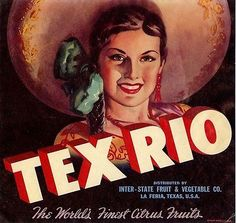 OLD-ORIGINAL-1930S-GORGEOUS-SENORITA-TEX-RIO-BRAND-CRATE-LABEL-LA-FERIA-TEXAS