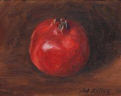 Items similar to Pomegranates orignal oil painting still life of fruit Art by Delilah on Etsy