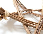Twig Star - Organic Natural Christmas Decoration - Made with Wood from French Woodland
