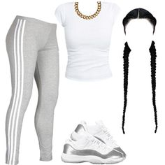 A fashion look from February 2015 featuring night out tops, adidas activewear and metal chain necklace. Browse and shop related looks.