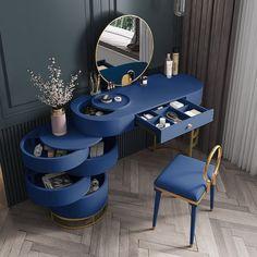 Room Design Bedroom, Bedroom Furniture Design, Home Room Design, Home Decor Furniture, Unique Furniture, Home Interior Design, Interior Decorating, Table Furniture, Dressing Table Design