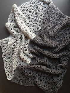 A reversible scarf worked with a simple 10 stitch, 12 row repeat. Can be worked horizontally or vertically in any size or weight.