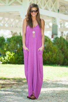 Good To Flow Maxi Dress, Purple
