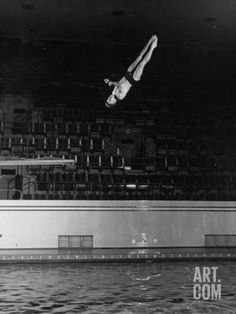 Double Twister Dive by Ohio State University Diver Miller Anderson, NCAA Swimmer of the Year Photographic Print by Gjon Mili at Art.com