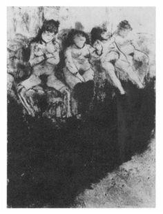 Edgar Degas, 'Brothel', pastel on paper