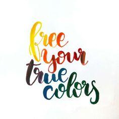 Letter Lovers kvittje: Handlettering free your true colors