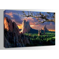 Morning Light- Garden of the Gods 48x32 - Artists of the West Program @ AFW