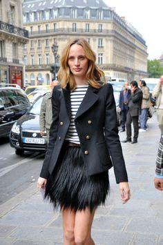 Lauren Santo Domingo in Paris, via The Window/Barneys Sweet jacket.