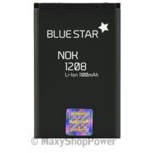 BATTERIA ORIGINALE BLUE STAR 3,7V 1100mAh LI-ION IONI LITIO PER NOKIA 1208 NERA BLACK NEW NUOVA IDEA REGALO - SU WWW.MAXYSHOPPOWER.COM
