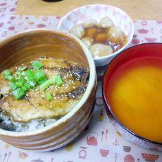 鰻は、断念w - 15件のもぐもぐ - 7月29日 いわしの蒲焼き 里芋のあんかけ 大根のお味噌汁 by sakuraimoko