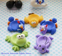 Porta docinhos! | by Rafa Pereira Polymer Clay Animals, Cute Polymer Clay, Cute Clay, Polymer Clay Miniatures, Fimo Clay, Polymer Clay Projects, Polymer Clay Creations, Clay Crafts, Diy And Crafts