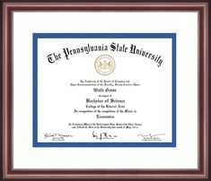 University Certificate, Professional License, College Diploma, Pennsylvania State University, Diploma Frame, Police Academy, State School, Alma Mater, Graduation Announcements