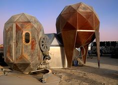 "Scott's Robotic Home gets the Burning Man ""Jules Vern"" Golden Rebar!  --2015"