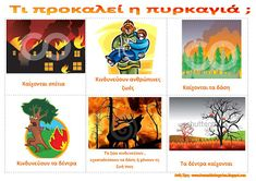 dreamskindergarten Το νηπιαγωγείο που ονειρεύομαι !: Πίνακες αναφοράς με θέμα τη φωτιά Fire Safety, Preschool Activities, Firefighter, Bowser, Education, Nature, Blog, Fictional Characters, Naturaleza