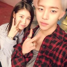 Daehyun and SECRET's Hyosung