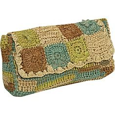 Raffia Clutch - crochet bag - Cappelli Straworld