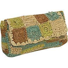 Raffia Clutch - crochet bag - Cappelli Straworld