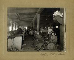 Office staff are seen at the ZCMI factory in this photo from August 1899.
