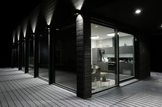Want to emphasize your facade? Hydra is a perfect lighting solution! Facade Lighting, Lighting Design, Lighting Ideas, Facade House, Lighting Solutions, Black House, Outdoor Lighting, Home And Family, Yard