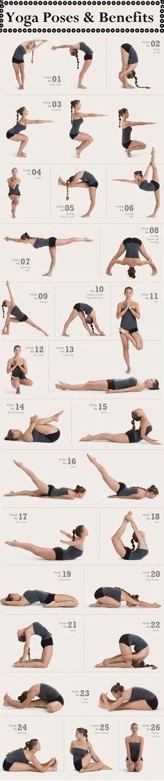 Ideen für Yoga Übungen, Anleitung und Stellungen zur Inspiration mit www.HarmonyMinds.de