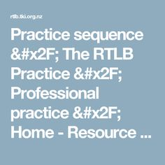 Practice sequence / RTLB Practice / Professional practice / Home - Resource Teacher: Learning and Behaviour Resource Teacher, Teacher Resources, Behavior, Learning, Behance, Studying, Teaching, Resource Room Teacher, Manners
