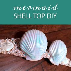 Dressing up as Mermaid?You'll need a shell top!For a Halloween Costume, a Performance or the Mermaid Parade. making a shell top that fits you makes wearing your shell top SO much better. Mermaid Shell Top, Mermaid Crown, Mermaid Tails, Mermaid Halloween Costumes, Diy Halloween, Halloween 2020, Halloween Makeup, Happy Halloween, Shell Bra