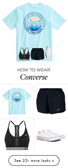 """""""Untitled #3631"""" by laurenatria11 on Polyvore featuring NIKE and Converse"""