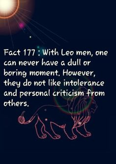 Leo men are awesome!