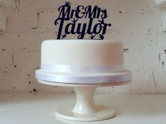 Typography cake toppers
