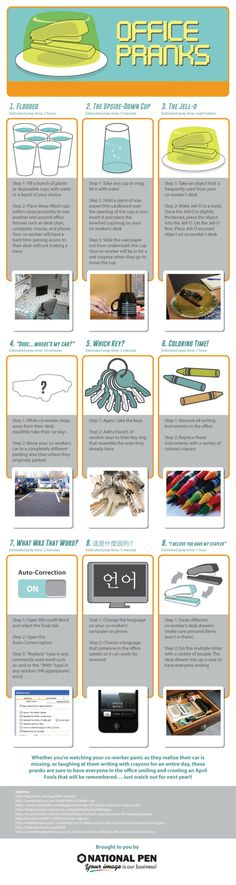 Top Office Pranks for April Fool's Day Infographic   Visio Marketing Group