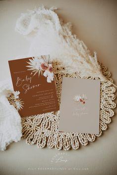 pampas grass wedding invitation digital for phone #135-2 palm rust burnt orange text invite Electronic boho wedding invitation template