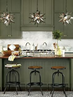 Uplifting Kitchen Remodeling Choosing Your New Kitchen Cabinets Ideas. Delightful Kitchen Remodeling Choosing Your New Kitchen Cabinets Ideas. Green Kitchen Cabinets, Kitchen Cabinet Colors, Painting Kitchen Cabinets, Kitchen Redo, New Kitchen, Kitchen Ideas, Kitchen Inspiration, Kitchen Black, Country Kitchen