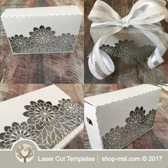Product Laser cut wedding gift box template @ shop-msl.com Wedding Gift Boxes, Wedding Gifts, Paper Box Template, New Year 2018, Laser Cutting, Wedding Designs, Decorative Boxes, Gift Wrapping, Templates