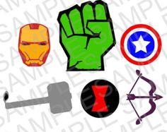 Marvel Superhero Logos SVG & DXF files by HatchWork on Etsy