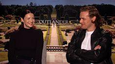 Outlander's Caitriona Balfe and Sam Heughan on Who Has Left Them Starstruck