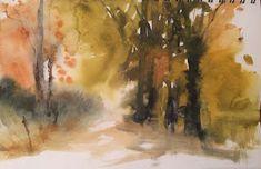 Pintar acuarelas: Terminó el otoño