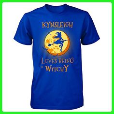 Kynsleigh Loves Being Witchy. Halloween Gift - Unisex Tshirt Royal 2XL - Holiday and seasonal shirts (*Amazon Partner-Link)