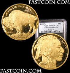 *2008-W 50 Proof Gold Buffalo PCGS PR 70 DCAM.  SMOKING DEAL!!!