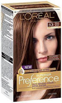 L'Oréal Superior Preference Medium Chestnut Brown