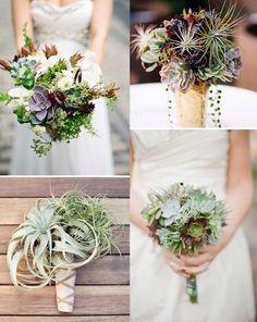 succulent and air plant bouquets – super pretty