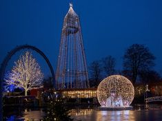 """Our team at MK Illumination Denmark and MK Themed Attractions added a bit more """"hygge"""" to Tivoli Friheden with a mix of festive lighting, decoration and characters in Doesn't it look cosy! Festival Decorations, Holiday Lights, Hygge, Denmark, Cosy, Festive, Destinations, Fair Grounds, Characters"""