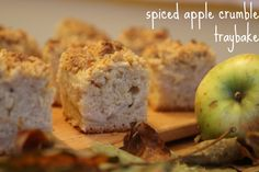 Spiced Apple Crumble Traybake Apple Crumble Cake, Crumble Topping, Great British Bake Off, Baking Tins, Spiced Apples, Cake Batter, Cookbook Recipes, Tray Bakes, No Bake Cake