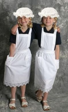 Girl's Rose Lace White Apron