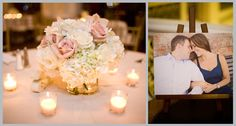 I like this sweet floral arrangement.  Classic Crystal Ballroom Wedding by Kimberly Chau Photography