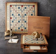 PREMIER EDITION SCRABBLE  In the 1930s, during the Great Depression, an unemployed architect named Alfred M. Butts invented a board game using letter tiles and a scoring system. He first called it Lexico, then Criss Cross Words, but it was in 1948, when he teamed with entrepreneur James Brunot, that the name Scrabble® was born. The game's wild popularity began in the '50s and continues today. Over 100 million Scrabble games have been sold worldwide.