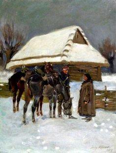 Soldier and Girl- Jerzy Kossak