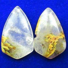 2Pcs-33x20x6mm-Volcano-Cherry-Quartz-Inverted-Triangle-Pendant-Bead-X33618 Inverted Triangle, Volcano, Cherry, Quartz, Beads, Pendant, Beading, Hang Tags, Bead