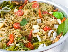 Pesto Pasta Bake, Tonight's dinner!    Subbing spaghetti squash for the noodles