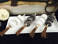 Donut brooms at a Harry Potter birthday party! See more party ideas at CatchMyParty.com!