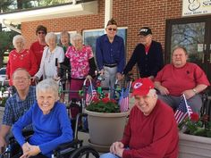 Residents in Manson, Iowa, gathered recently to celebrate a beautiful morning outside the Good Samaritan Society location. - Good Samaritan Society
